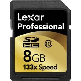 8 GB Lexar Pro 133x SDHC Card