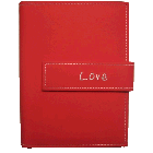 "Pioneer 4x6 Red Photo Album, ""Love"""