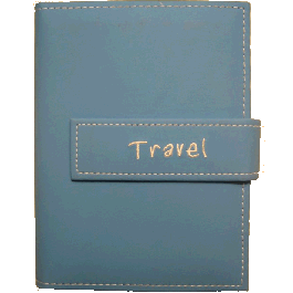 "Pioneer 4x6 Sky Blue Photo Album, ""Travel"""